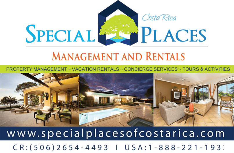 The business card of Special Places of Costa Rica